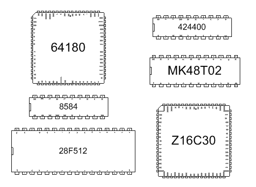 example microprocessor shapes